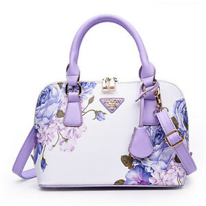 NEW-Women-Ladies-Shoulder-Bag-Handbags-Floral-Designer-Famous-Brand-Shell-Bags