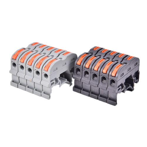 5Pcs PCT-211 Rail Type Quick Connection Terminal Press Connector Wire ConnZ8