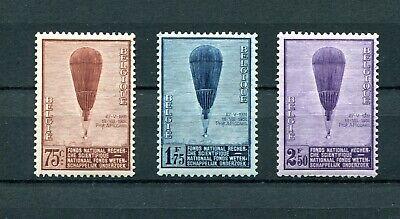 mnh .catalogo Punctual Timing 1932.belgica.belgique.yvert 353/55 .nuevos Sin Fijasellos.