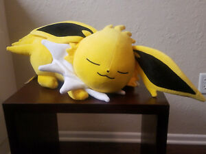 Pokemon-Center-Original-Muneca-De-Felpa-dormir-Jolteon-hermandad-4521329221052