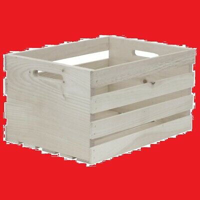 HOUSEWORKS 67140 18 Lx12.5 Wx9.5 H Large Crates /& Pallet Wood Crate