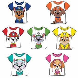 PAW-PATROL-Boys-Girls-T-Shirt-Top-Chase-Everest-Marshall-Rocky-Skye-2-7-yrs