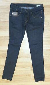 Diesel-Ladies-Stretch-Skinny-Jeans-Straight-Dark-Blue-Clush-UK-12-W30-L34-Long