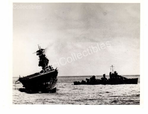 WWII US Navy Aircraft Carrier Loss Of USS Yorktown CV5 Official Photo 8x10
