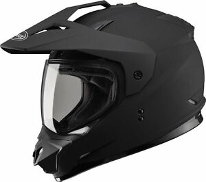 GMAX GM11 FLAT BLACK GRAPHICS HELMET MX ATV SNOW STREET DUAL SPORT SIZE LARGE