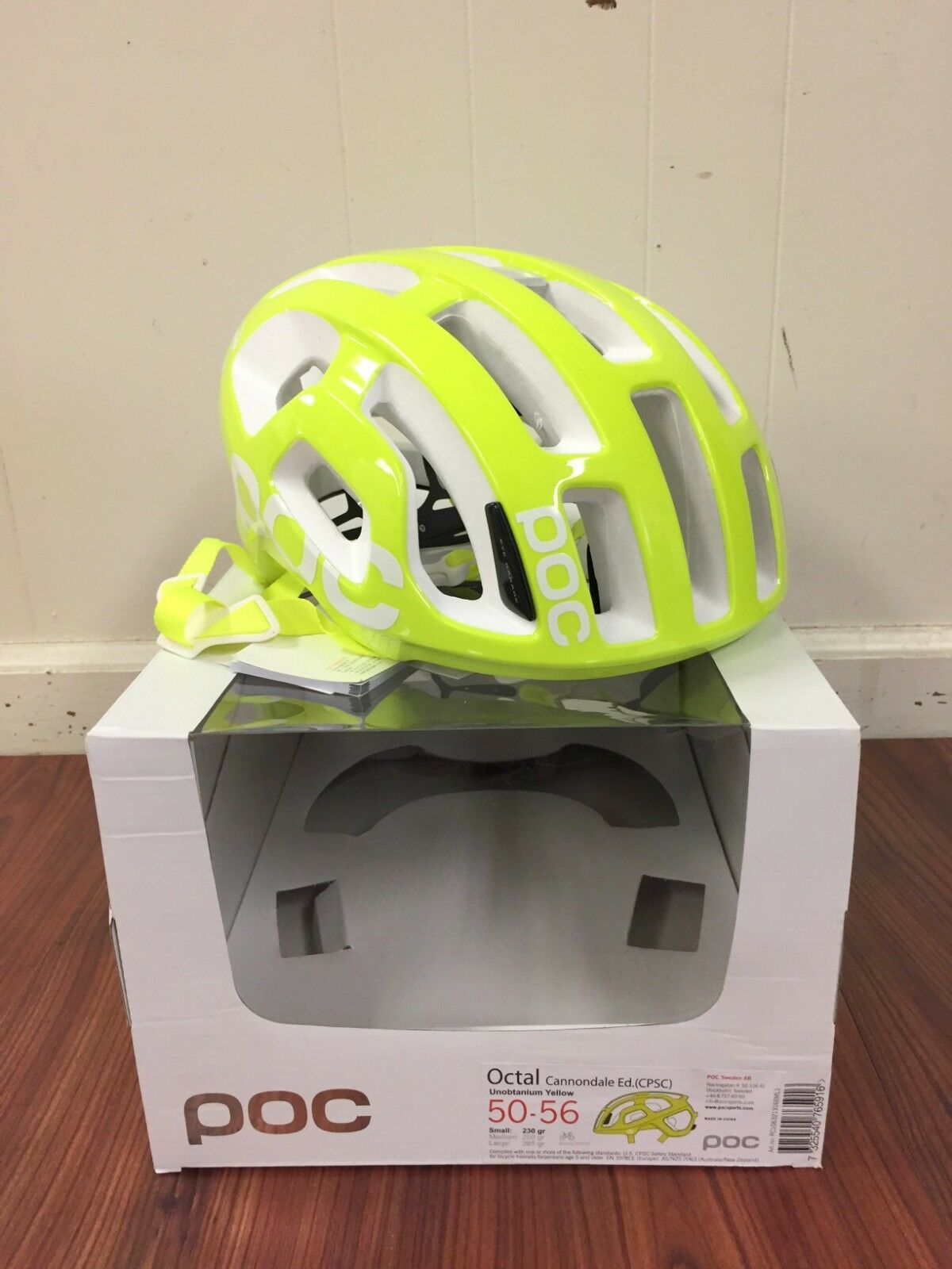 POC Octal Cannondale Edition CPSC Yellow Size Small 50-56 New in Box