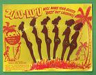 #T8. SET OF ZULU LULU SWIZZLE STICKS ON CARD