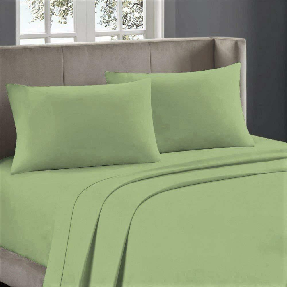 USA Bedding Items All Sizes 1000 Thread Count Egyptian Cotton Sage Solid