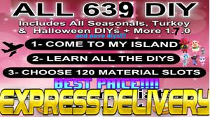 AC-New-Horizons-ALL-DIY-Recipes-cards-Full-639-Turkey-halloween-etc