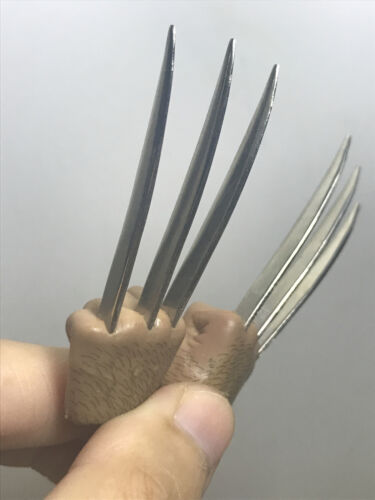 In-Stock 1//6 Scale Wolverine metal claw hands realistic hair fist Steel talons