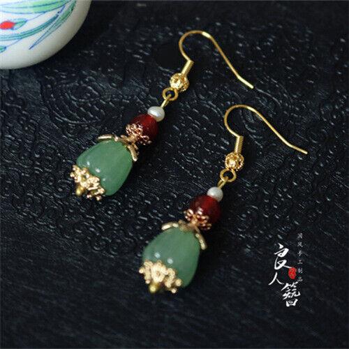 Hanfu Imitation Dot Cui Earrings Cheongsam Ear Hooks Earrings Ear Clips Classic