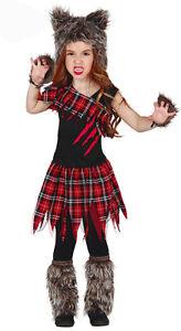 Image is loading Girls-Werewolf-Costume-Scottish-Wildcat-Fancy-Dress- Halloween-  sc 1 st  eBay & Girls Werewolf Costume Scottish Wildcat Fancy Dress Halloween Outfit ...