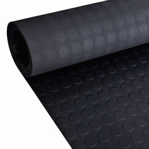 3m x 1.6mCoin Rubber Garage Flooring Matting4mm Thick Floor Mat