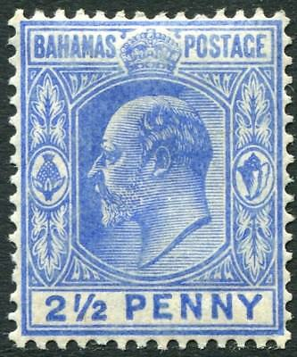 Honest Bahamas-1906-11 2½d Ultramarine Sg 73 Lightly Mounted Mint V22443 Ample Supply And Prompt Delivery Bahamas (until 1973)
