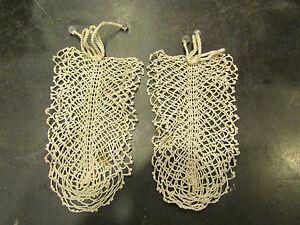 2 Anciens Decors Dentelle Au Crochet A Suspendre