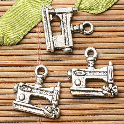 52pcs dark silver color sewing machine design  charms  EF2715