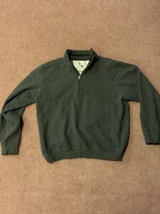 Cutter-And-Buck-1-4-Zip-XL-Grey-Golf-75-Cotton-25-Polyester