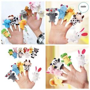 10Pcs/Pack Baby Kids Cotton Finger Animal Educational Story Toys Puppets Plush