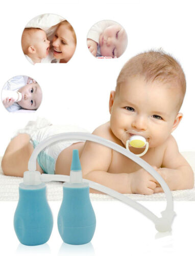 Baby 3 in 1 Set Vacuum Nasal Aspirator Anti Back Flow Nose Cleaner Feeder Sucker