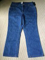 Lands' End Size 6 Inseam 23 Crop Jeans Denim Capris 5 Pocket F-6
