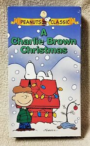 A Charlie Brown Christmas Vhs.Details About A Charlie Brown Christmas Vhs Video Tape 1964 Peanuts Animated Charles Schulz