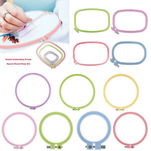 Plastic-Frame-Hoop-Ring-Embroidery-Cross-Stitch-Sewing-Tool-DIY-Art-Craft-Tool