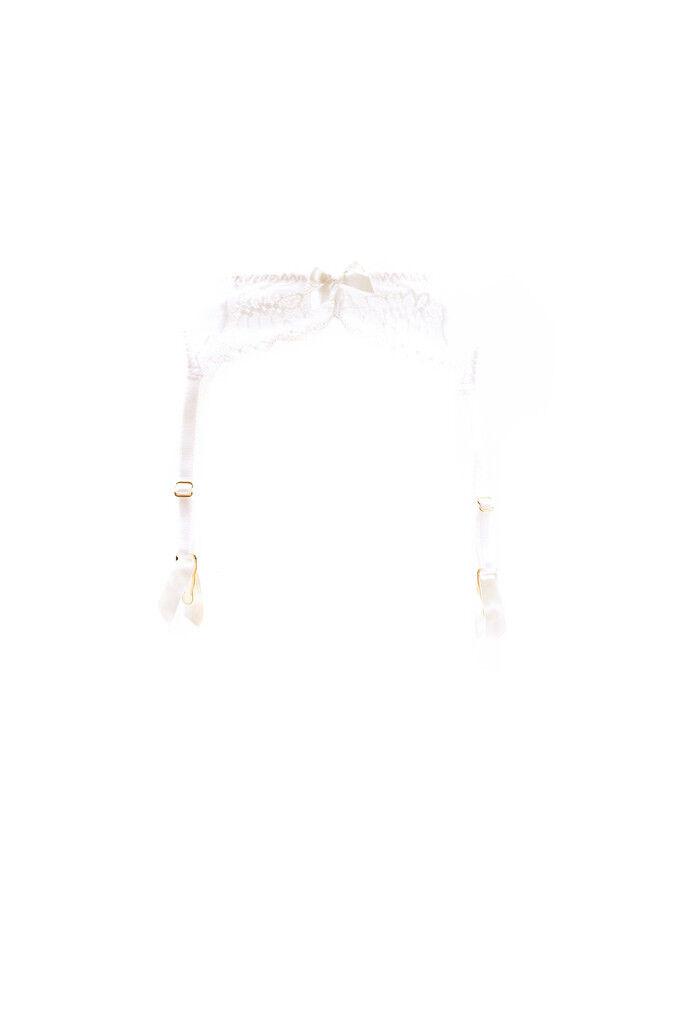 L'Agent by Agent Provocateur Women's New Lace Suspender White RRP  BCF87