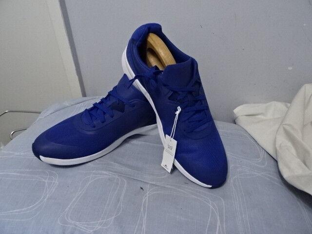 Lacoste PA05402, Para Hombre con Cordones Bajo Superior De Cuero Textil azul Zapatillas UK12  -