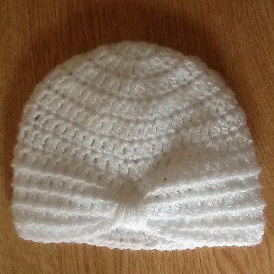 248f192ad Handmade Crochet Baby Turban style hat, newborn size   eBay