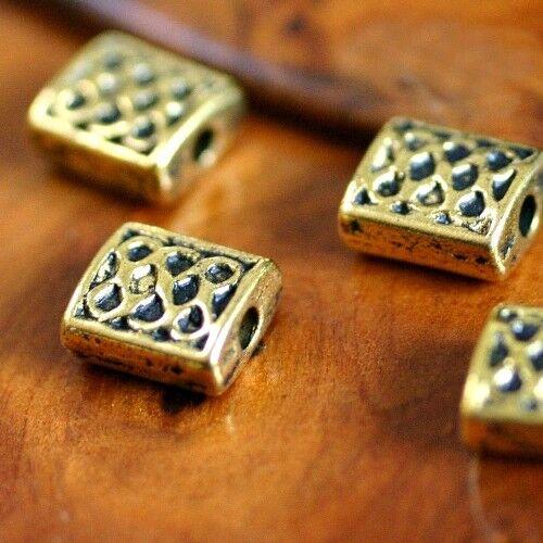 6 5 Perles Spacers   PAVE CELTIQUE    Métal VIEIL OR 7 mm