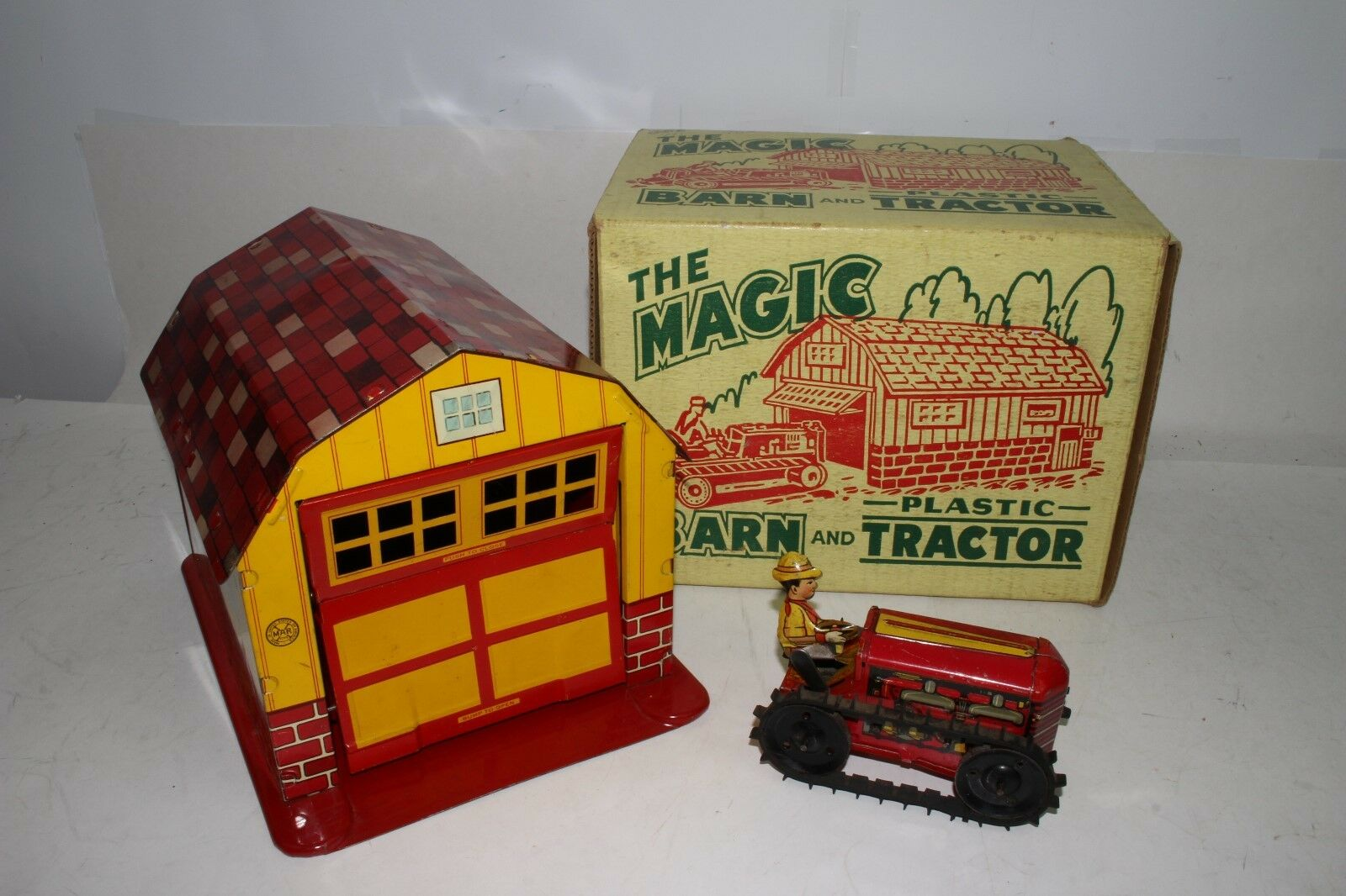 1950's Marx Barn with Tractor, with Original Box