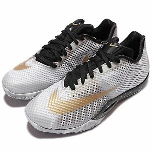 NIKE Hyperlive Men's Basketball Shoes White/Gold MSRP0 819663170 sz 10.5~11.5