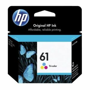 1x-Genuine-HP61-Colour-Ink-Cartridge-CH562WA-For-HP-2510-2050-1050-1010-Envy4504