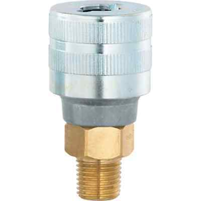 "1/4"" BSPT Male Twist Coupling, Standard Duty Pneumatic Schrader Standard Fitting"