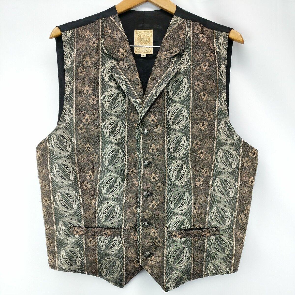Wah Maker mens Größe Large vest Frontier clothing western reenactment  A50-8