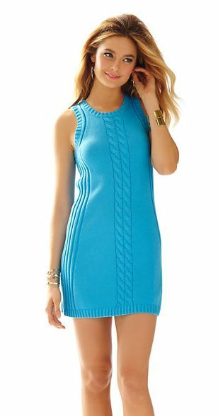 NWT  Lilly Pulitzer Elise Ariel bluee Sweater Shift Dress