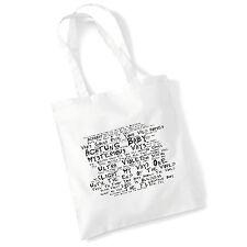 Art Studio Tote Bag U2 Lyrics Print Album Music Poster Gym Beach Shopper Gift