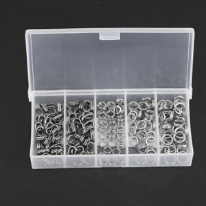 200pcs-Stainless-Steel-Double-Split-Ring-Connector-Fishing-Tackle-Accessories