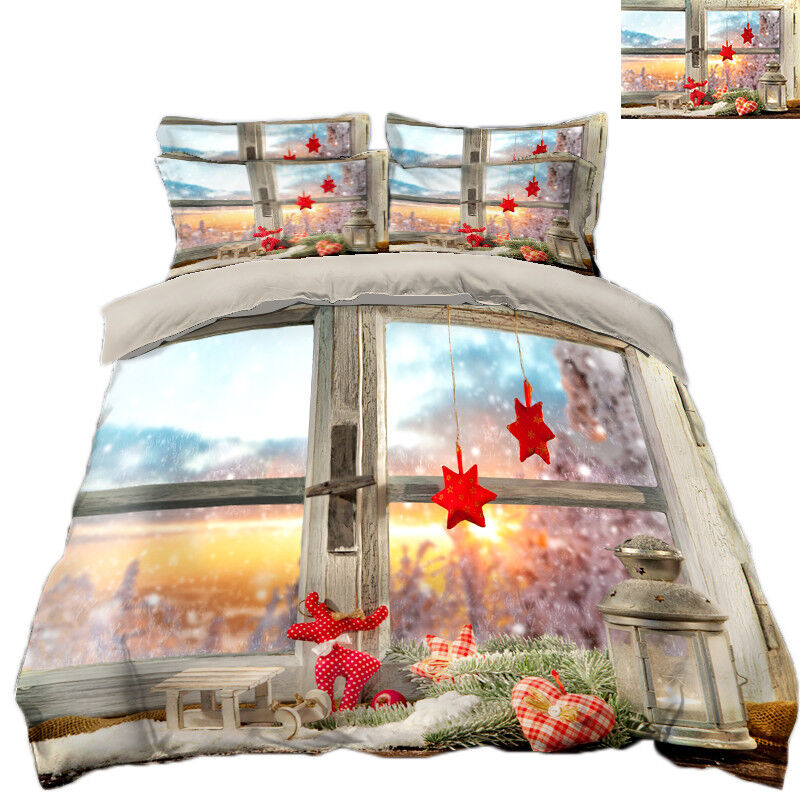 3d Natale xma 324 LETTO FEDERE steppe duvet set soffitto Single de