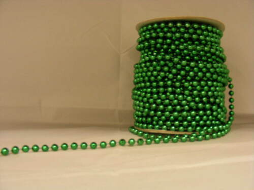 Pearls on String Green 6mm 10 metres
