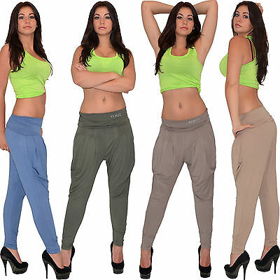 Baggy trousers Aladdin Baggy Pump Harem Trousers in many Colours S08 UK