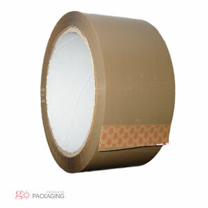 STRONG-BROWN-BUFF-POSTAGE-PACKAGING-POSTAL-PACKING-PARCEL-TAPE-48mm-x-66m