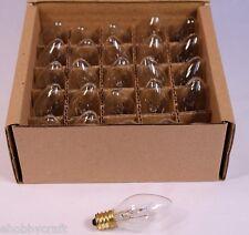 Clear Twinkle Blinking Light Bulbs - C-7 ,Candelabra Base, 7 Watt - Box of 25