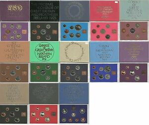Royal-Mint-Coinage-of-Great-Britain-amp-Northern-Ireland-Proof-Coin-Set-1970-1982
