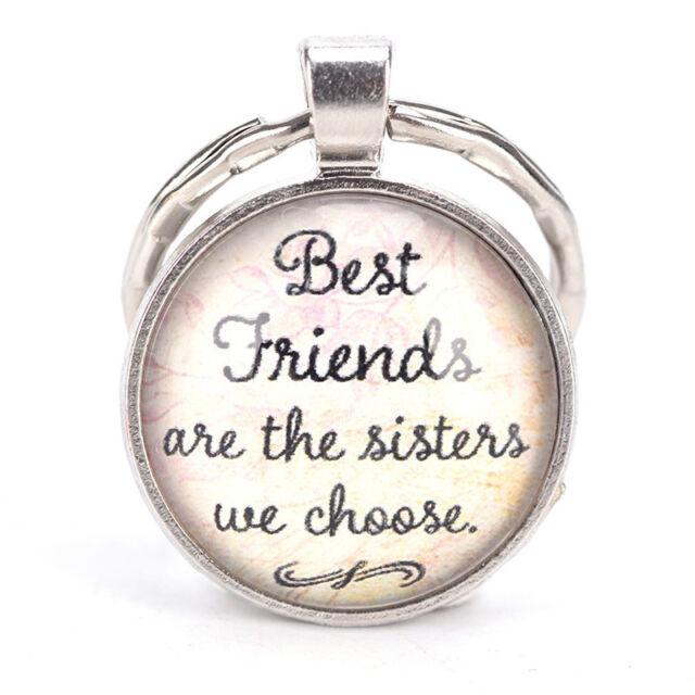 Best Friend Keychain Friendship Jewelry Metal Best Friends Pendant Keys Ring vK
