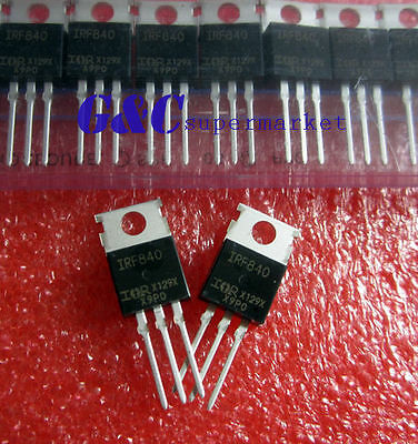 20PCS IRF840 TO-220  POWER MOSFET N-channel 8A 500V NEW GOOD QUALITY T2
