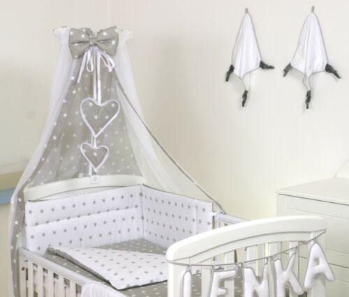 30+DESIGNS BABY BEDDING SET COT OR COT BED inc BUMPER+COVERS+DUVETS+CANOPY+MORE