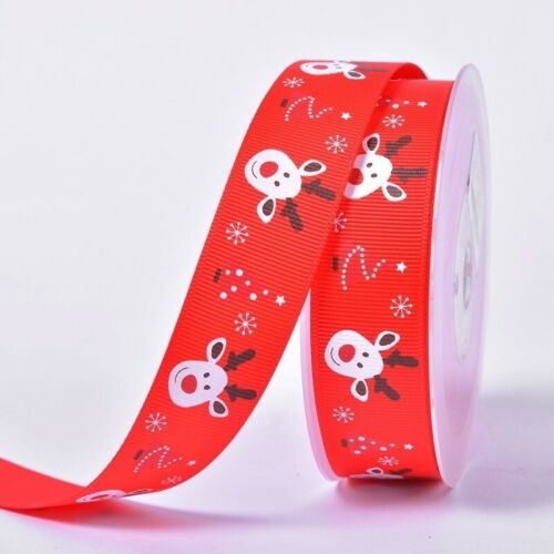 25mm 5Yard Gift wrapping tape Christmas Ribbon Bow tie box packing belt Hair Bow