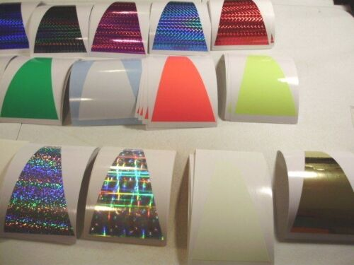 """SHORTBUS 8/"""" TRIANGLE FLASHER Die Cut 2 PK  PRISM HOLO FISHING LURE TAPE 9 Colors"""
