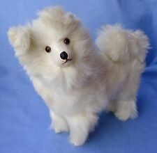 "9"" Antique German Candy Container Spitz Samoyed Fur Dog French Fashion Doll"